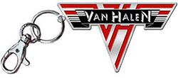 Van Halen Logo Metal Keychain