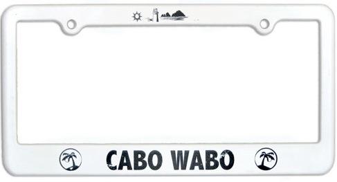 Cabo Wabo License Plate Frame: Van Halen Store