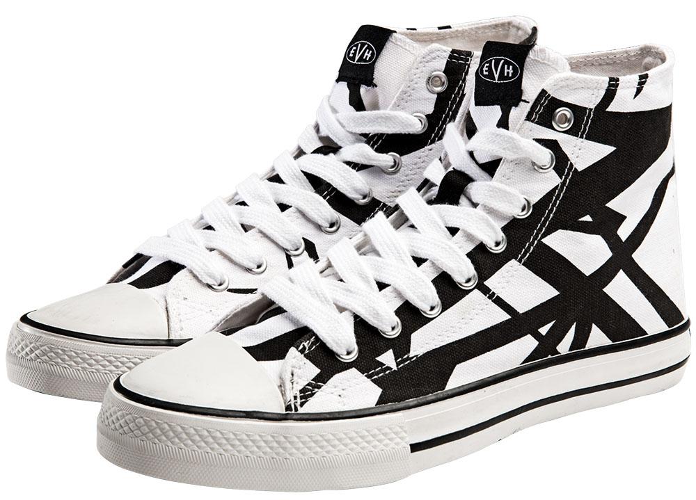 192a1608b1df EVH White High Top Sneakers  Van Halen Store