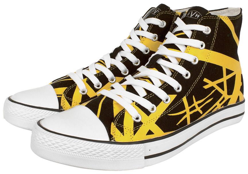 8df20c01457 EVH Yellow High Top Sneakers  Van Halen Store