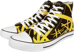 New Black/Yellow Hi Tops