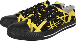 New Black/Yellow Low Tops