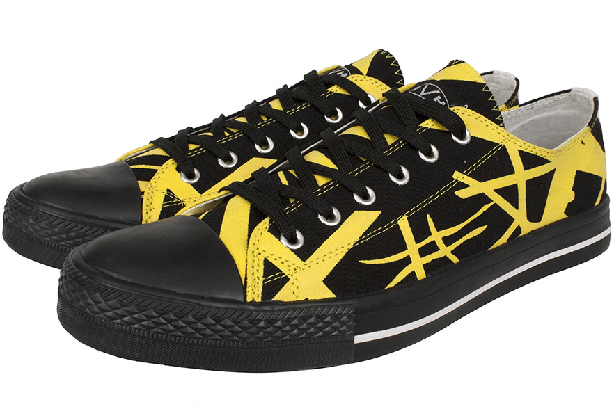 EVH Black   Yellow Low Top Sneakers 6ddfb8727