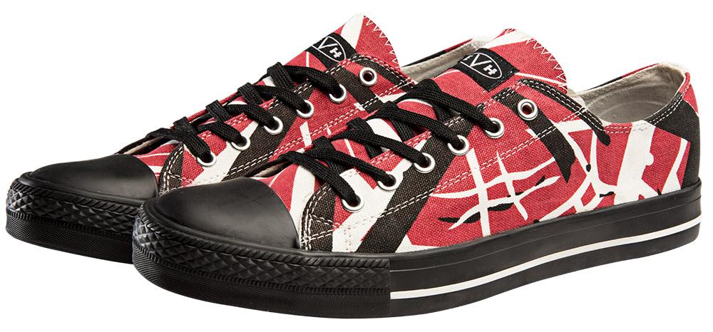 0837d87af77 EVH Red Low Top Sneakers  Van Halen Store