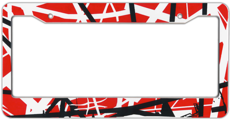 evh striped license plate frame