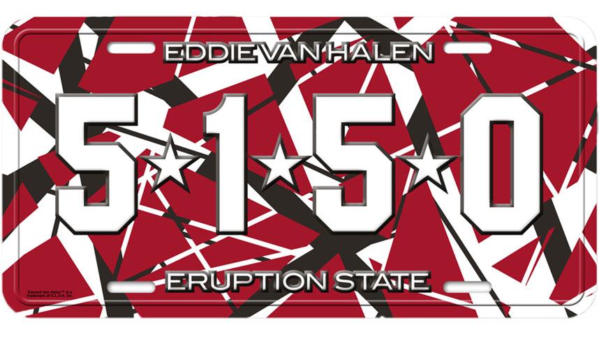 5150 License Plate Van Halen Store