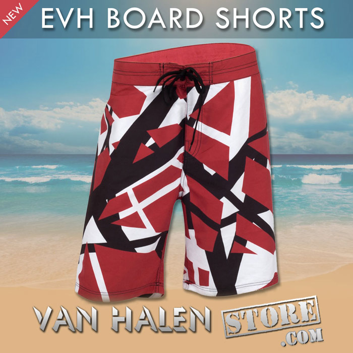 07fb2f10328 New EVH Striped Boardshorts