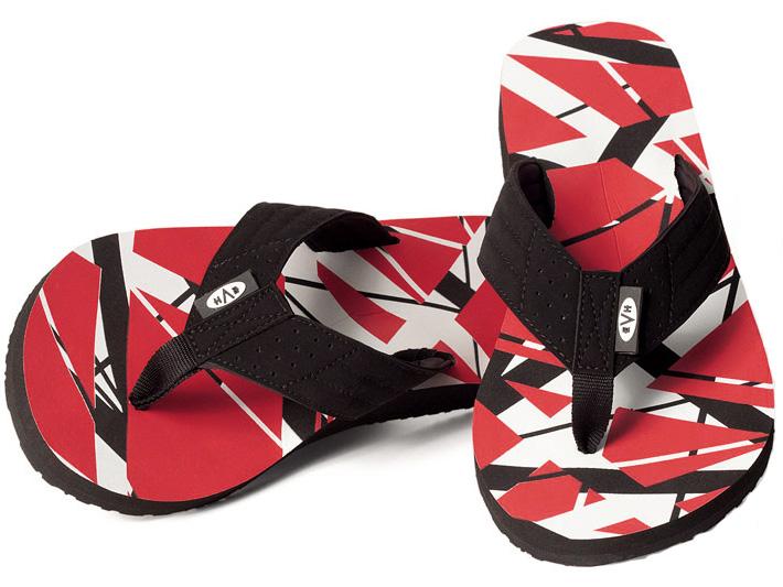 Eddie Van Halen Flip Flops  width=