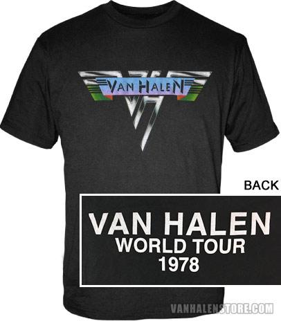 1588a765f 1978 World Tour Shirt: Van Halen Store