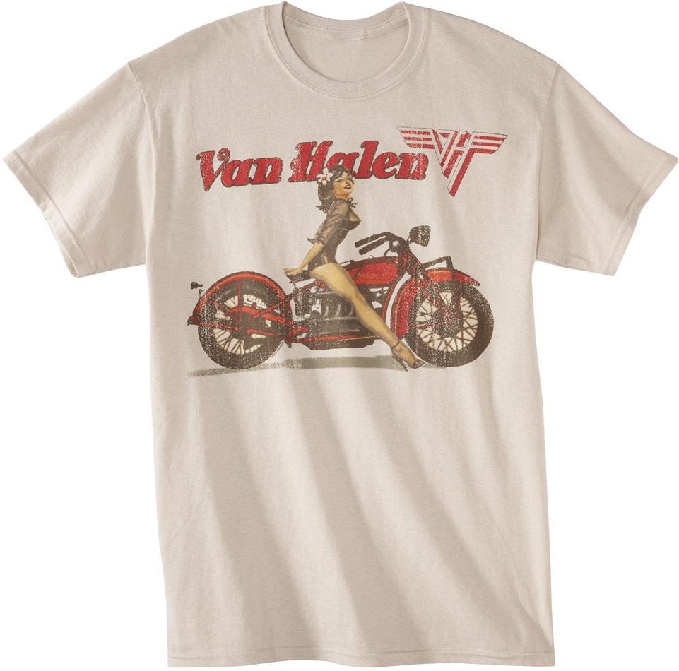 Biker Pin Up Shirt Van Halen Store