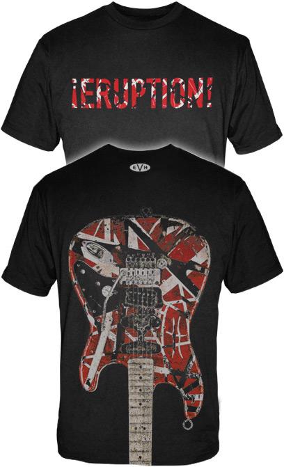 24333a895 Eruption & Guitar Shirt: Van Halen Store