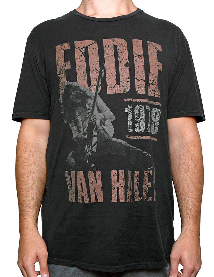 5c0debec8 EVH Vintage Poster Tee: Van Halen Store