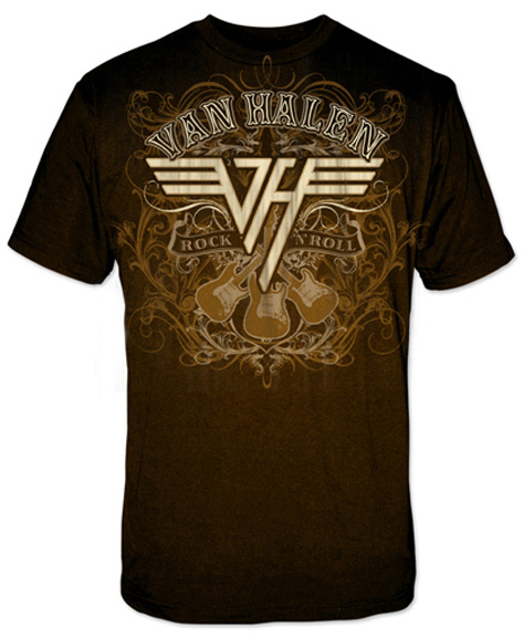 Rock n roll shirt van halen store for Rock and roll shirt shop
