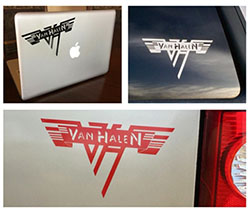 Van Halen Rub-On Decal Set 2