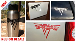 Van Halen Rub-On Decal Set