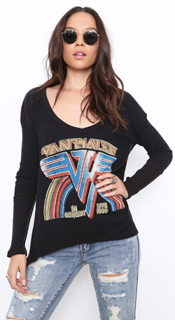 Women's Van Halen In Concert Thermal 2