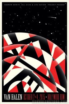 Van Halen Hollywood Bowl Lithograph