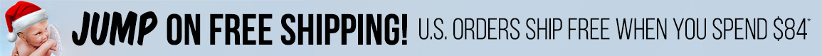 Jump for free US Shipping when on orders $84 or more